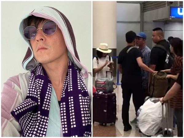 陈冠希机场遭偷拍发飙引围观 疑似被主播故意激怒