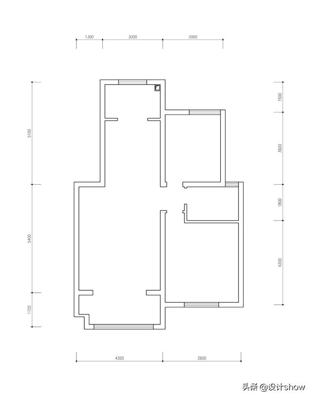 95平完美两室两厅,却要求设计成三室,看设计师怎么下手