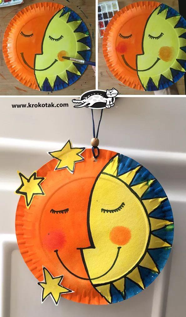 幼儿园纸盘创意手工纸盘太阳手工 师乐汇幼儿教师教育网