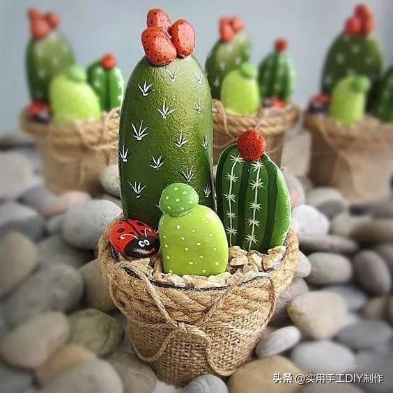 [「美图分享」这么美的仙人掌盆栽,喜欢手工的你一定不要错过] 仙人掌盆栽