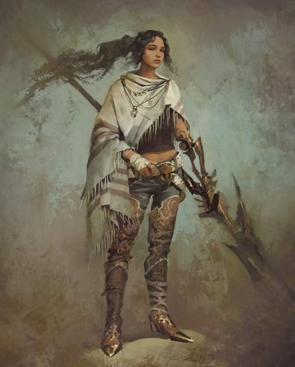 《最终幻想15》被取消DLC概念图 小姐姐游侠气质十足