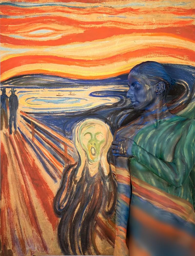 人体艺术之美乳_容易看错的人体艺术,不仔细看,发现不了是画在人身上