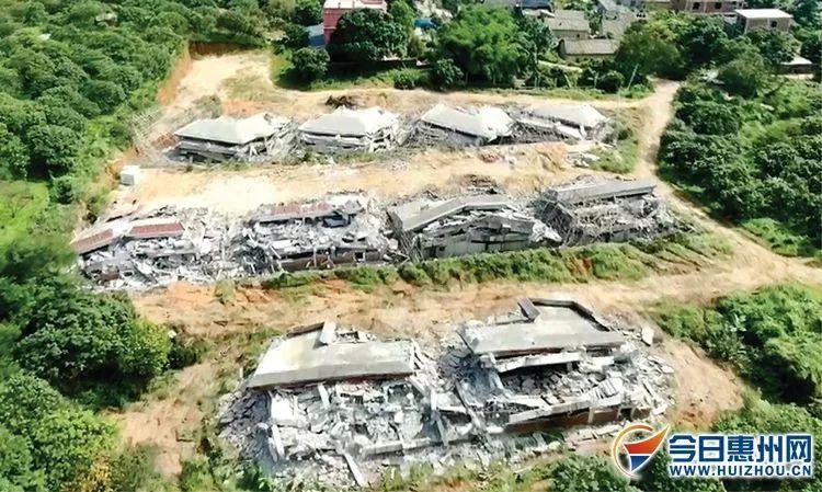 惠州这10栋楼盘违建,都被拆了,瞬间都倒下了!别墅方案宣别墅ppt图片