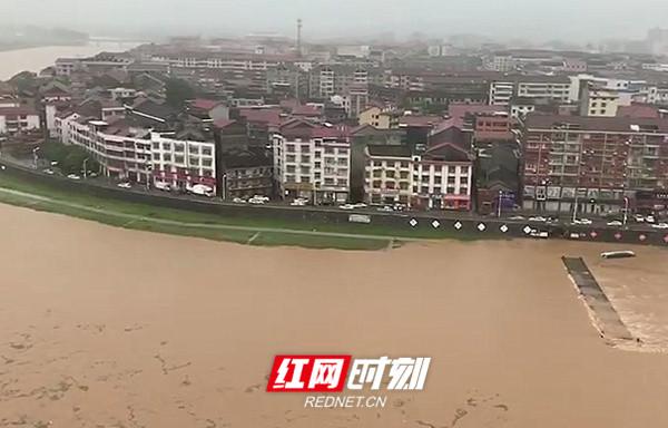 防汛动态丨溆水溆浦县城段将经受历史最高洪水位(157.19m)考验