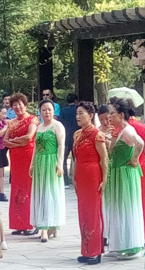 时尚广场舞大妈 自发组建老年模特队 定期比赛汇演