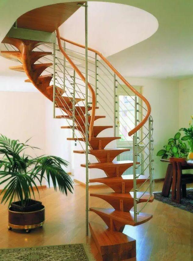 室内旋转楼梯这样设计,美观,实用有创意!