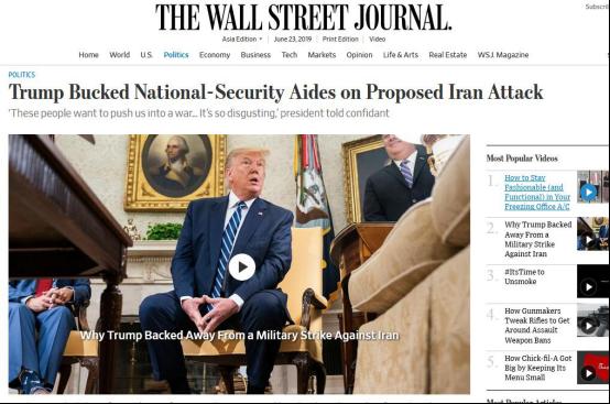 """美媒爆料:特朗普私下谈国安顾问圈,""""这些人想把我们推向战争,太恶心"""""""