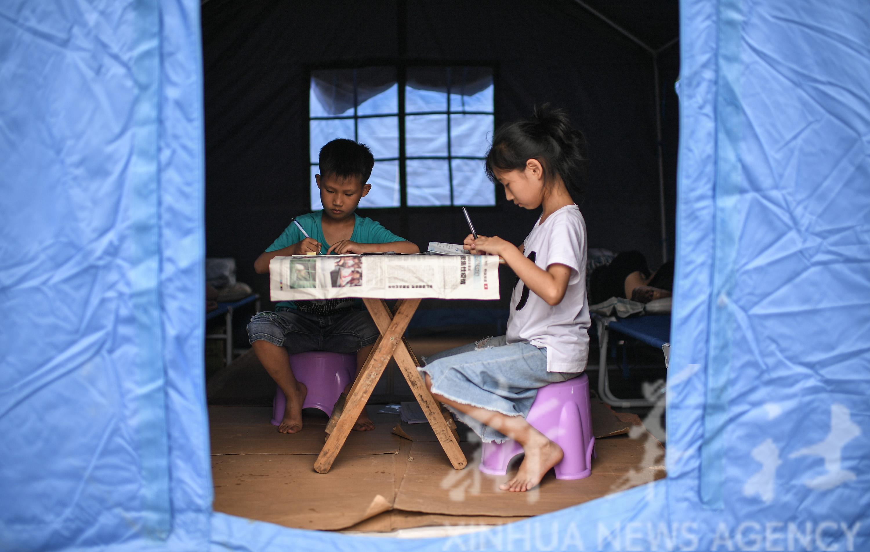 珙县地震灾区:受灾群众得到安置