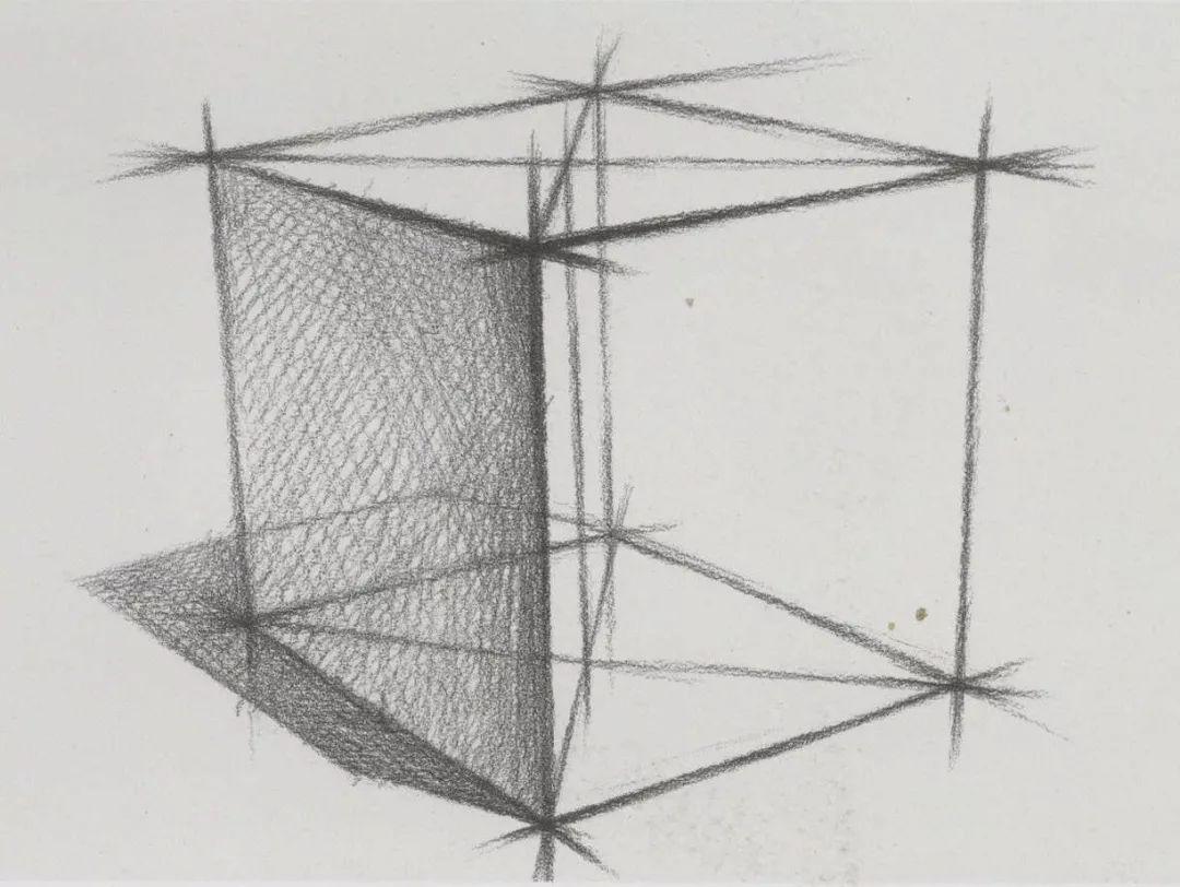 2. 正方体的绘画步骤