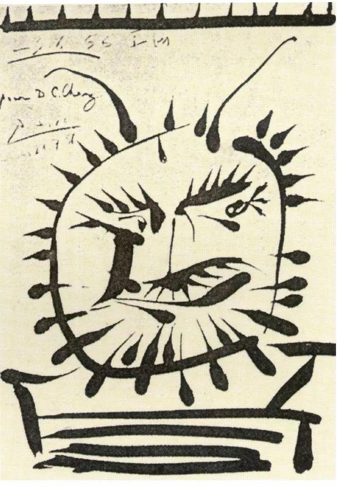 毕加索临摹中国画作品!