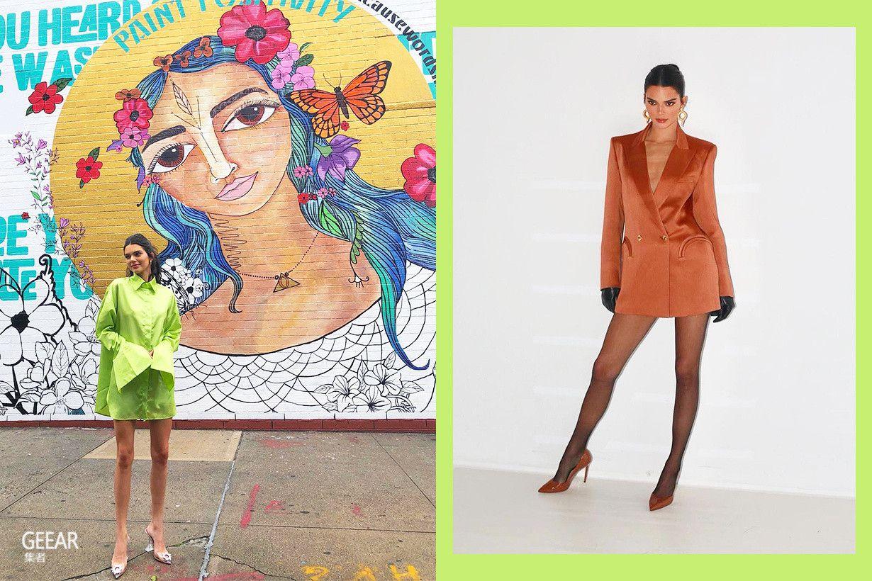 原创            超模肯豆街拍照的豹纹连身裙,竟来自我们都爱的品牌!