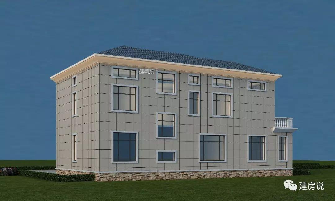 建房说二层别墅图纸设计,30万建一栋