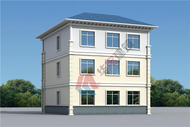 120平米三层自建房设计图纸,时尚的欧式风格,引领全村潮流