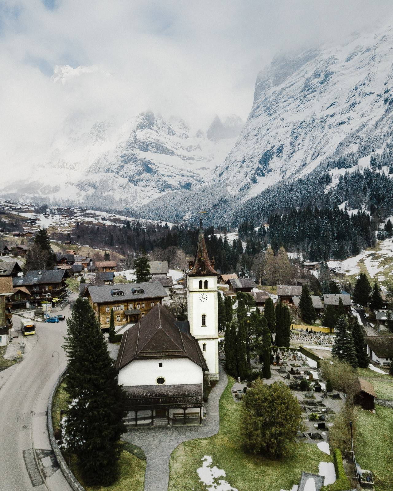 瑞士旅游目的地之格林德瓦小镇