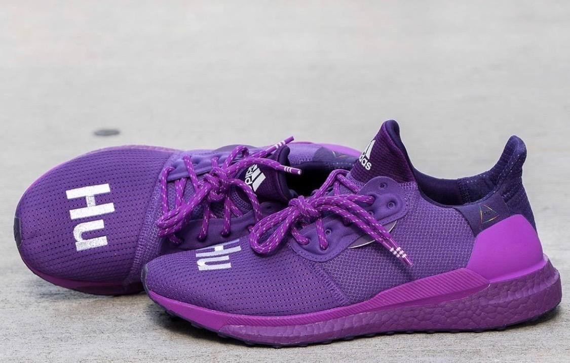 """复古流行色接着玩!adidas HU Glide""""皇家紫""""细节大赏!"""