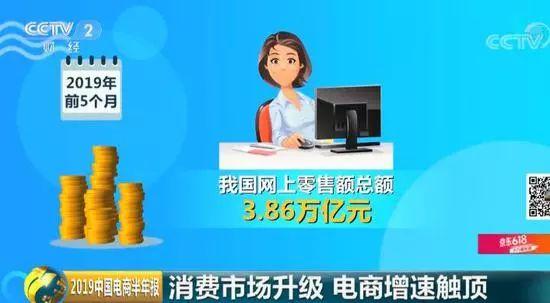 """央视特别报道""""2019中国电商半年报"""":电商增速触顶未来要咋变?"""
