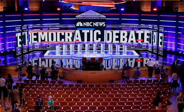 2020年美国大选 民主党初选辩论正在进行