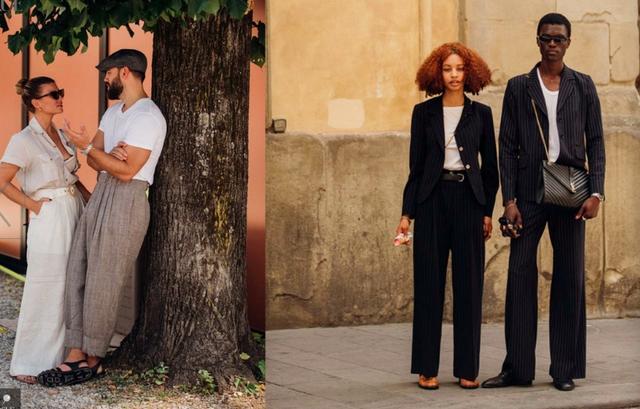 原创            2020男装周场外街拍精华:女生穿男装,男人穿女装将是常态
