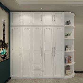 四门衣柜安装步骤及家具衣柜边角贴纸操作