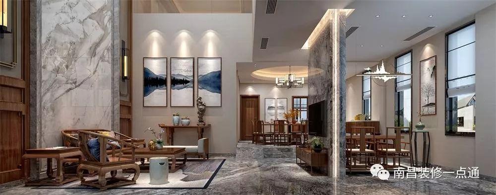 林家湾532别墅新中式装修设计,a别墅,素净的东方气质农村设计图花草小有别墅图片