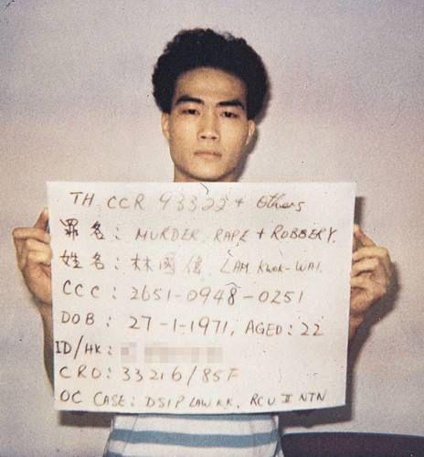 被捕后,林国伟在庭上承认 15 项强奸及行劫罪,否认余下的3项谋杀罪图片