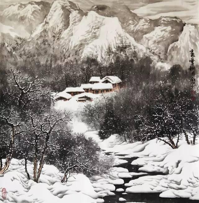 一千年来,冰雪山水画都是咋画的?_雪景图片