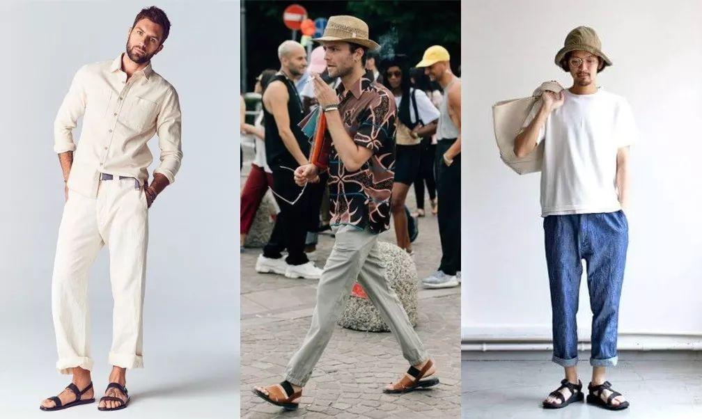 夏季舒适透气的凉鞋怎么才更有型?可与这3种裤款搭出帅气感