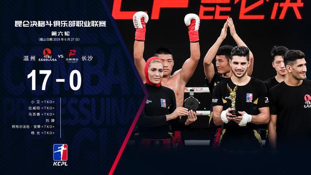 2019年6月27日昆仑决职业联赛第六轮 - 战报[视频] 温州允成vs志鹏搏击