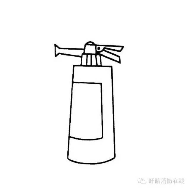 灭火器的简单画法   儿童学画简单的灭火器画法