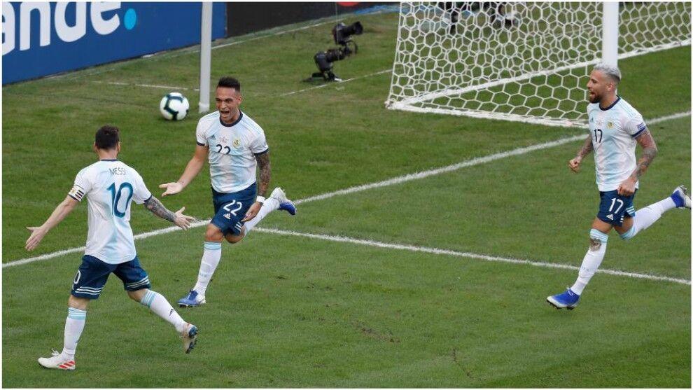 美洲杯-劳塔罗洛塞尔索破门 阿根廷2-0委内瑞拉将战巴西