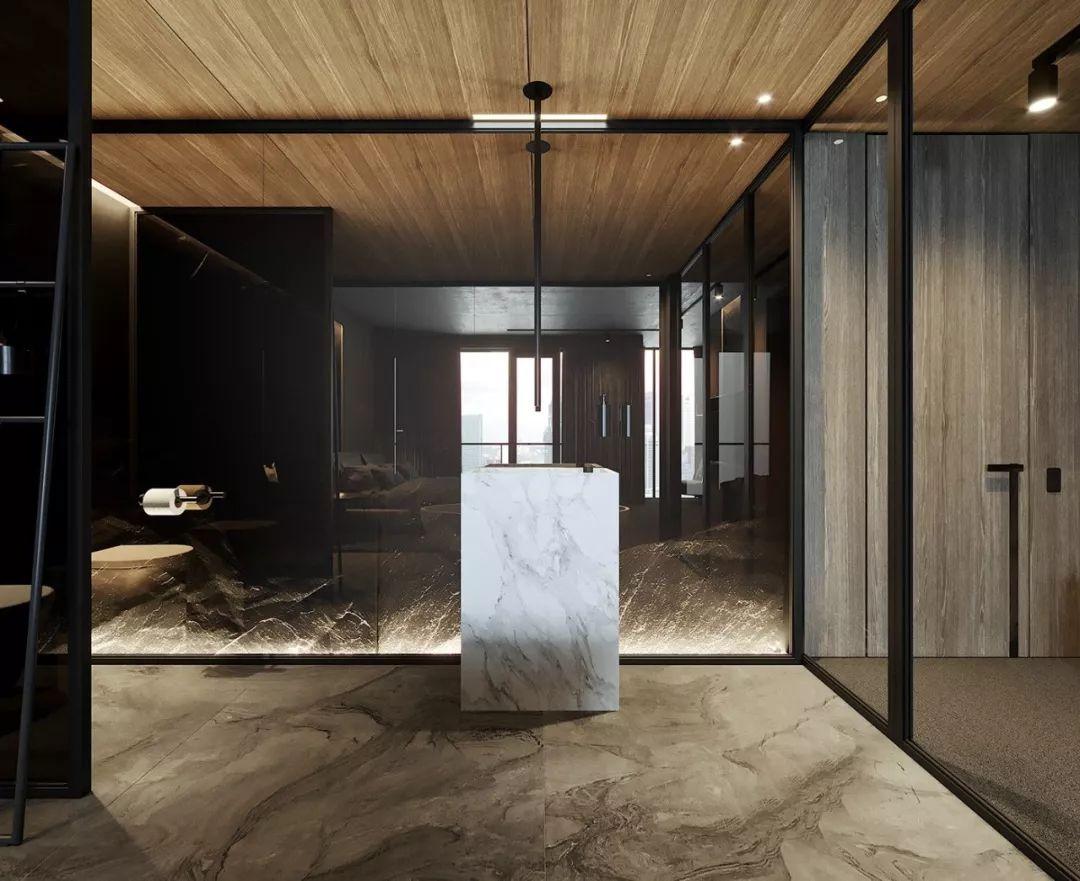 亚洲在线大色网大黑吊_设计师在用色,选材上大花心思,客厅以沉稳睿智高级黑,湿润的木色地板