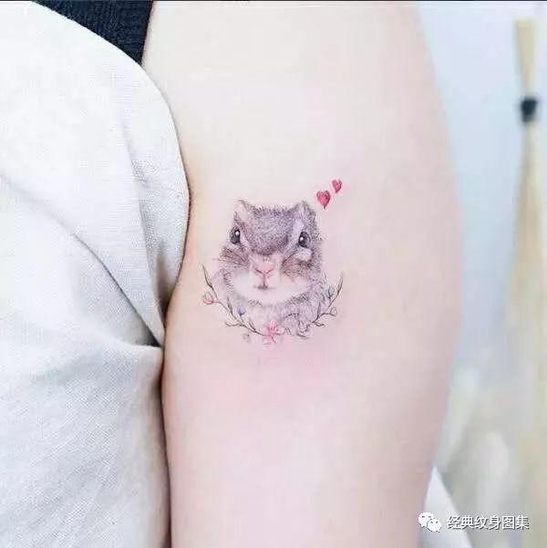 适合小女生的12种纹身头像小动物纹身图案大全图片