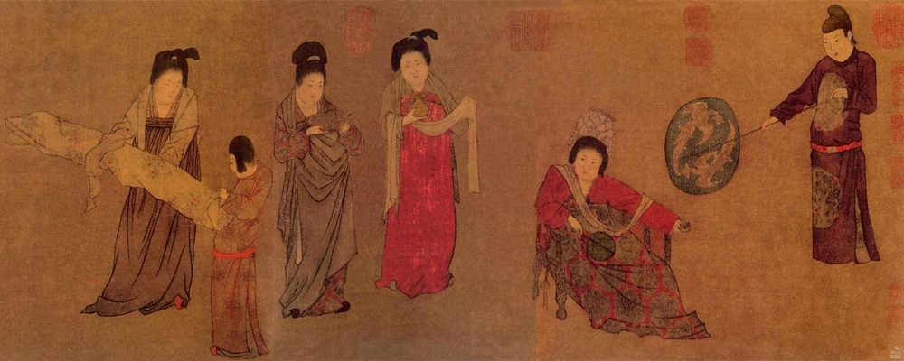 中国十大传世名画之《唐宫仕女图》