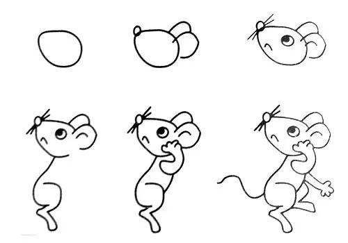 小老鼠简笔画 小老鼠上灯台 小老鼠简笔画