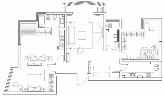 111㎡现代北欧,轻松闲适的家,惬意舒适的生活