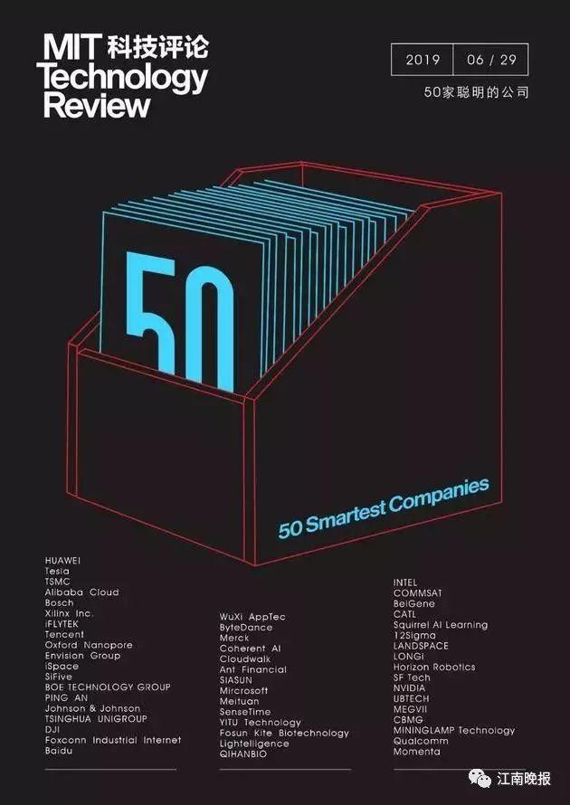 2019年50家最聪明的公司发布,无锡和江阴两家公司上榜