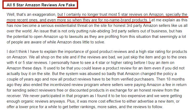 美国佬狂喷中国卖家:所有的五星评论都是假的!