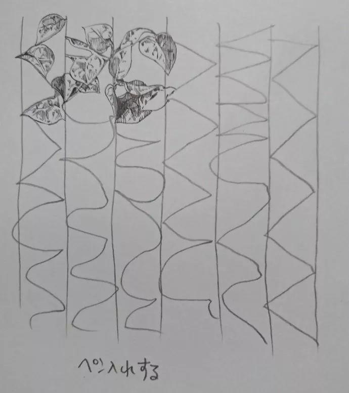 我:画画要先画草图打底稿
