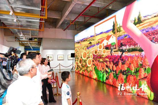 """福州滨海新城打造数字艺术特色IP 观众可""""走""""入画中"""