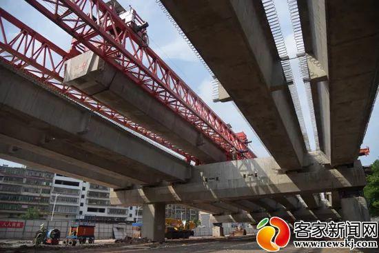 动态!赣南大道快速路2标段箱梁架设预计9月底完成!