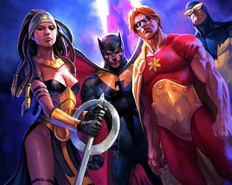 日本超级色的邪恶漫画_漫画公司旗下的知名团队——正义联盟而创作的,而邪恶中队就是他们的