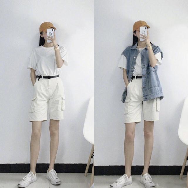 白T恤还是那么经典不过时!18套简单干净的搭配,时髦又吸睛