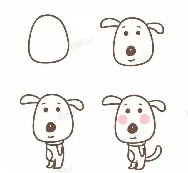 带孩子画简笔画,提高儿童对物体的辨别能力