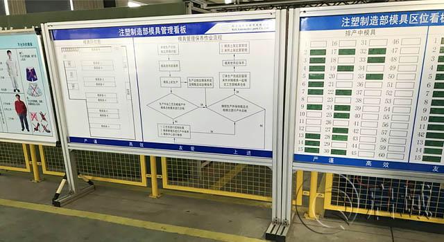 铝型材制作的车间生产管理看板架