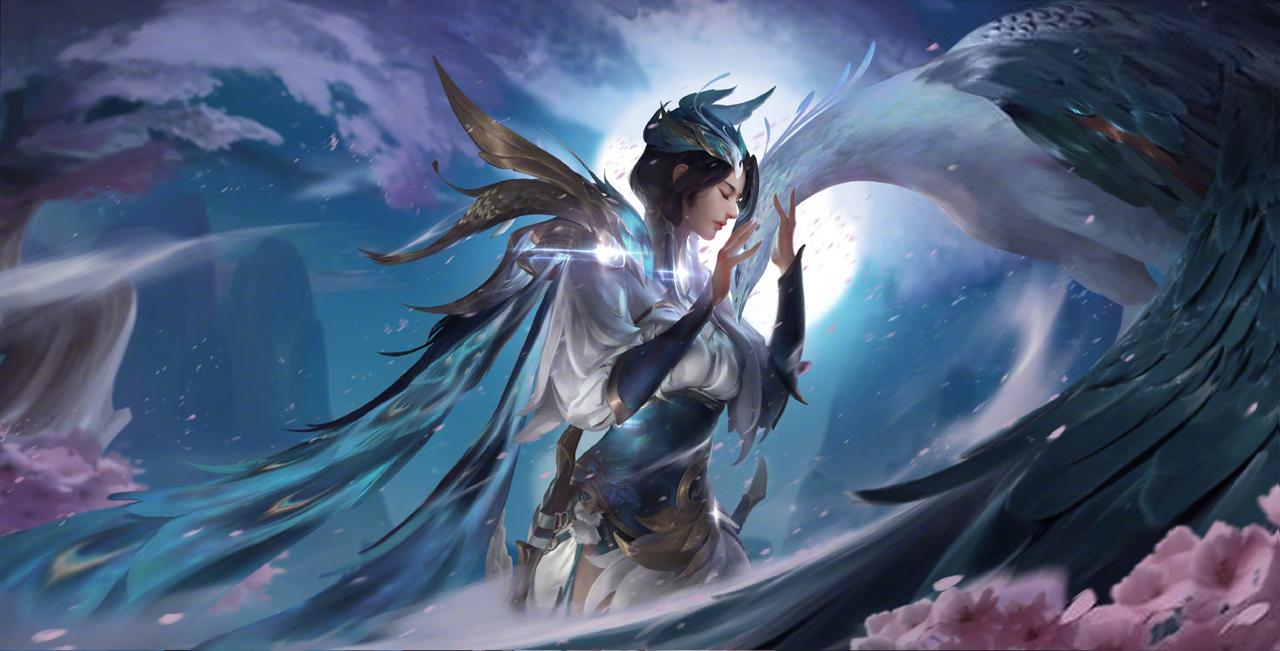 原創王者榮耀官宣虞姬傳說限定新皮膚 山水畫作配古風十足圖片