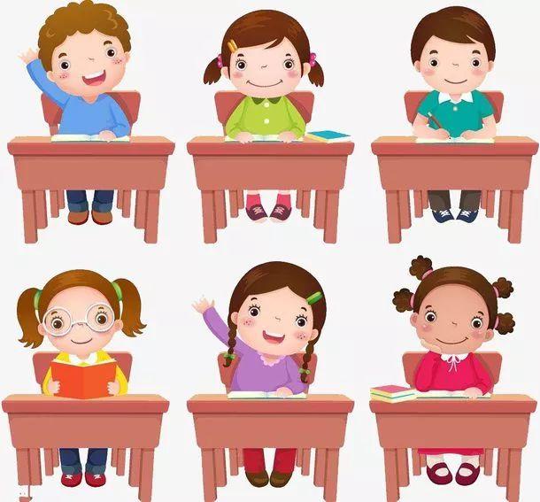 小学生怎样上课图片简笔画   请看小学生上课图片简笔画: