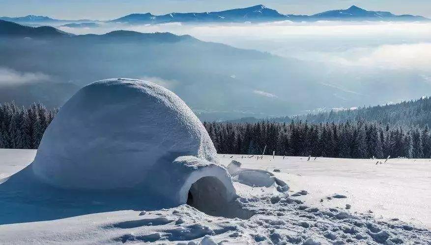 因纽特人冰屋,加拿大北部图片