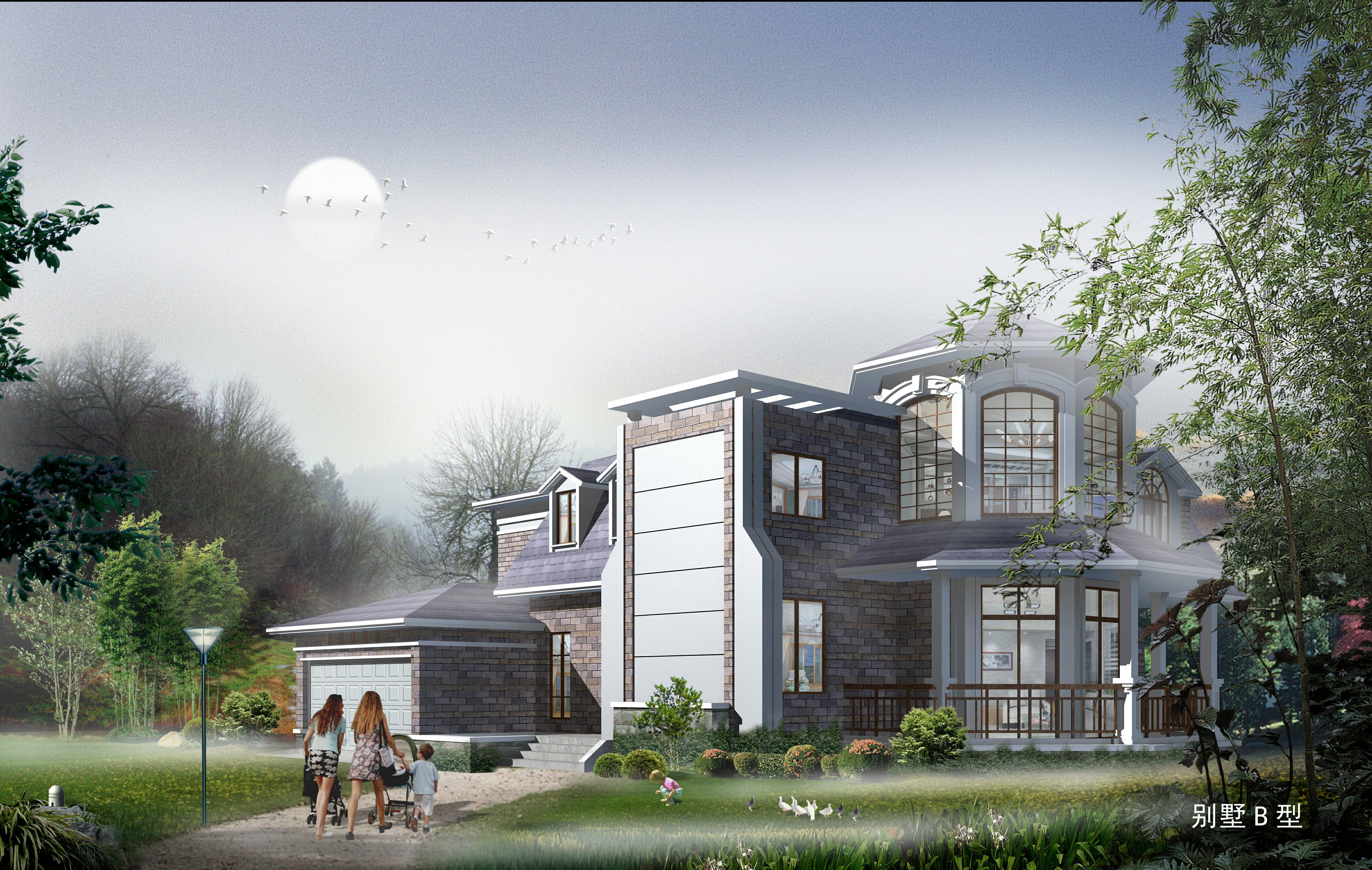 自建房cad别墅设计图效果图下载