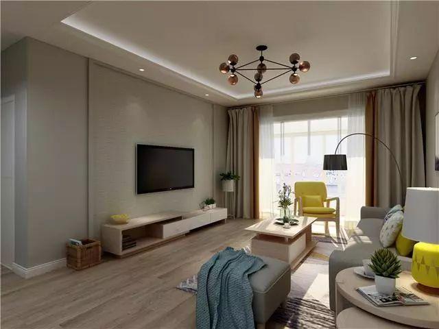 68平现代简约两居室,家中的色彩搭配很出彩,好想有个这样的家!
