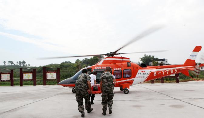 永川首例空中救援在市级贫困村成功实施